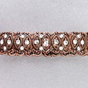Antique Copper Crystal Bracelet